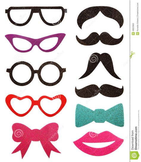 accessories eyeglasses mustache isolated on white