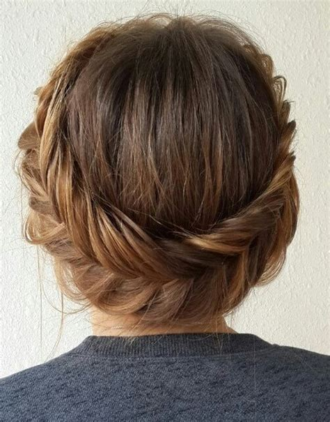 medium length hair for black tie 20 easy and pretty updo hairstyles for mid length hair