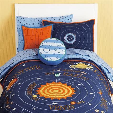 kids blue solar system bedding the land of nod 17 best images about solar system bedding on pinterest