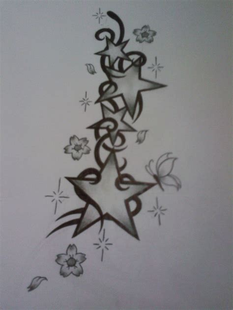 stars and flowers tattoo designs design by tattoosuzette on deviantart