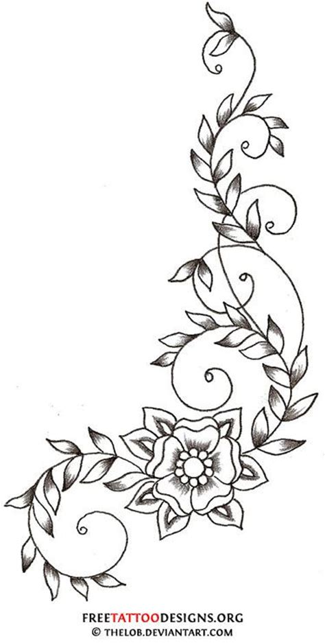 25 best ideas about flower vine tattoos on pinterest