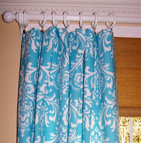 turquoise drapes curtains dining serving