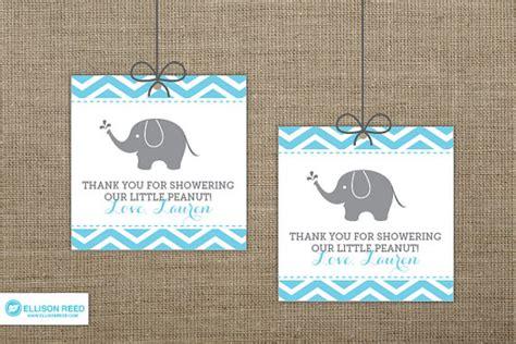 printable elephant gift tags chevron elephant baby shower favor tags elephant