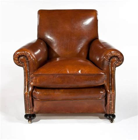 leather club armchairs fine pair of antique leather club armchairs at 1stdibs