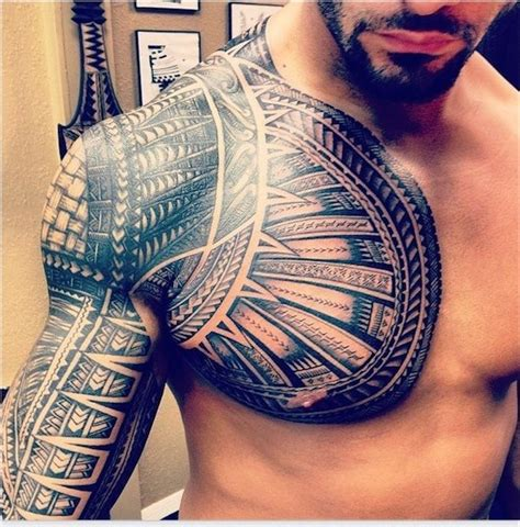 tribal tattoo chest and arm top 144 chest tattoos for
