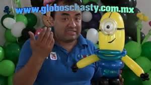 como hacer minions de globos minions balloons chasty youtube