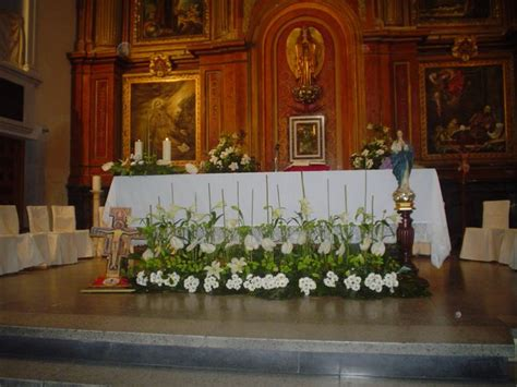decoracion primera comunion en la iglesia