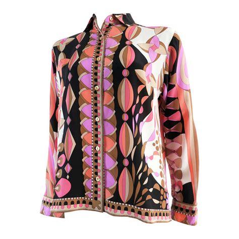 As0012 Blouse Polos Kalung Besi vintage averardo bessi silk shirt at 1stdibs