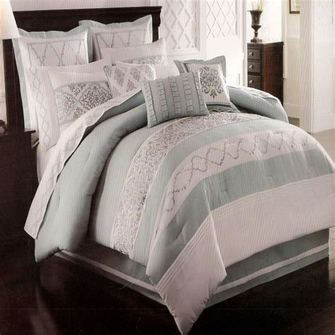 oversized queen comforters courtyard seaglass oversize queen 8 piece comforter bed in