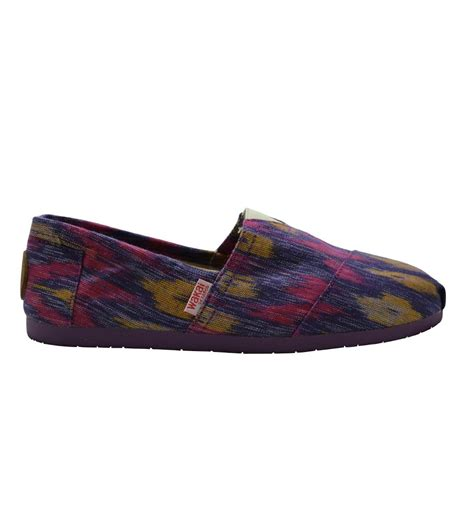Wakai Slip On Made In wakai shoes japan kara made from tenun ikat