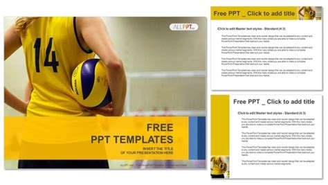 powerpoint themes volleyball young girl holding volleyball sports powerpoint templates
