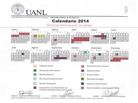 calendario universitario 2014 calendario de calidad 2014 direcci 243 n de tecnolog 237 as de