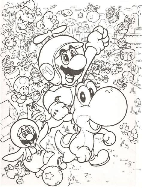 super mario bros coloring pages free large images