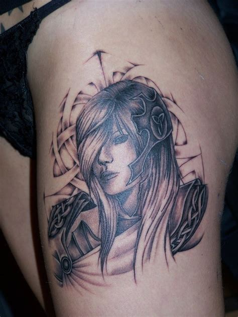 tattoo girl warrior simson tattoo