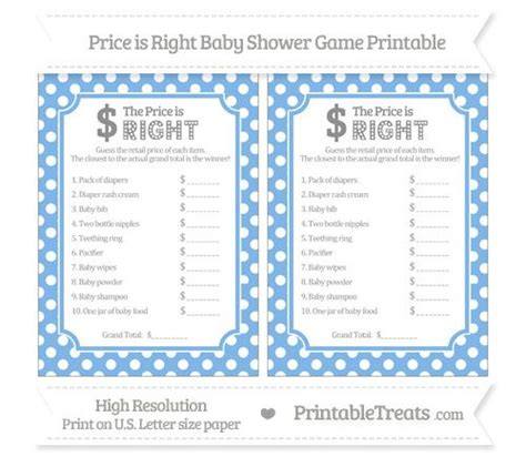 price is right bridal shower template 36 best images about baby shower on water