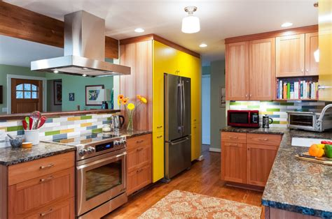 eclectic kitchen cabinets the yellow cabinet kitchen and mudroom eclectic kitchen portland by fraley and company