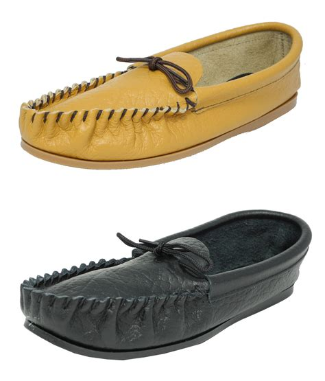 mens leather moccasin slippers mens made mokkers soft leather moccasin slippers