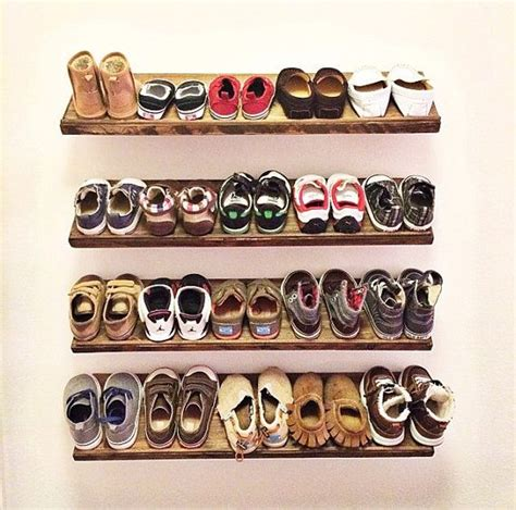 Handmade Shoe Rack - handmade floating shoe rack
