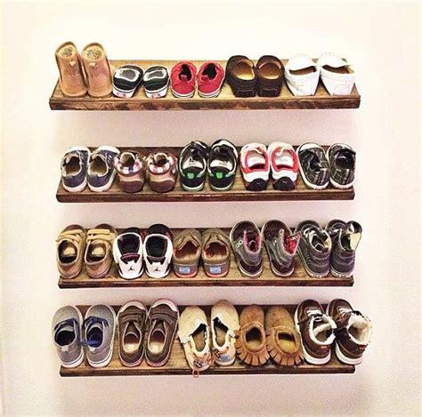 handmade floating shoe rack