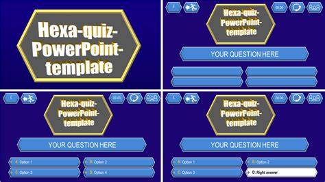 Quiz Template Hexa Download Ppt Themes Quiz Template Powerpoint