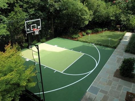 Kids Wall Ideas by Backyard Basketball Court Ideas To Help Your Family Become