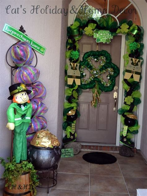 st s day home decorations st patricks day door decor deco mesh