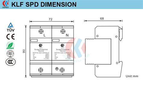 Surge Protector 2p 60ka 2 2kv factory price 80ka b class voltage surge protective device
