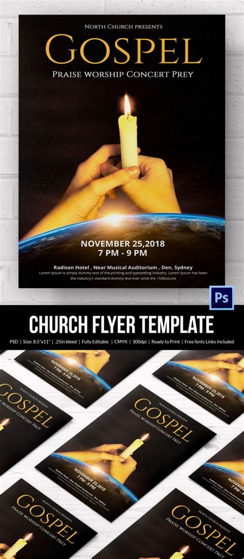 Church Flyers 26 Free Psd Ai Vector Eps Format Download Free Premium Templates Religious Flyer Templates Free