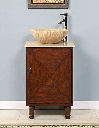 20 Inch Bathroom Vanity by 20 Inch Vessel Sink Bathroom Vanity With A Travertine Top