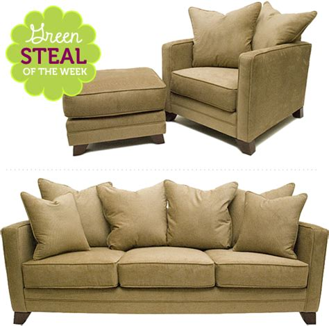 organic sofa green steal of the week fawn organic cotton sofa and chair