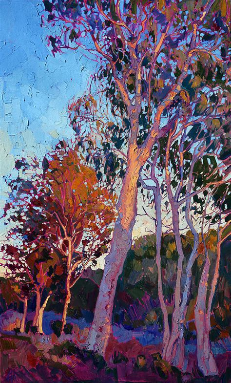 eucalyptus color eucalyptus in color painting by erin hanson