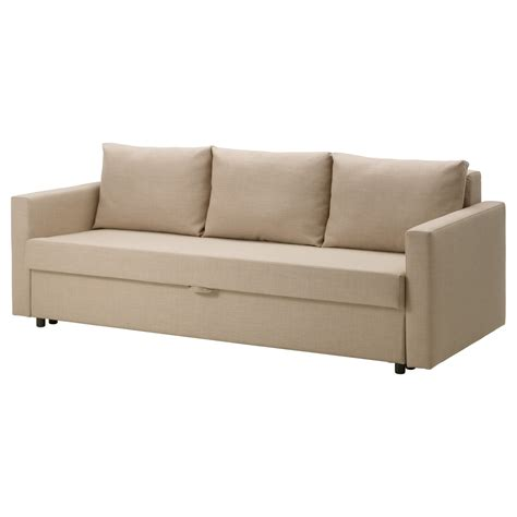 Seat Sofa Bed by Friheten Three Seat Sofa Bed Skiftebo Beige