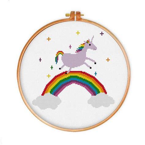 unicorn cross stitch pattern unicorn rainbow cross stitch pattern funny modern cute