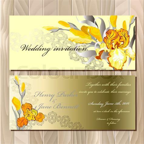 Wedding Background Golden Yellow by Wedding Card With Yellow Orange Golden Iris Flower