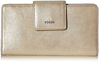 Dompet Fossil Sydney Tab Metallic Silver brown fossil mens checkbook wallet what s it worth