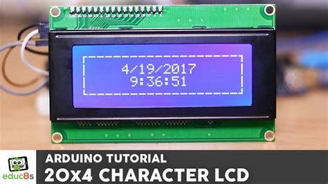 arduino tutorial  ic character lcd display
