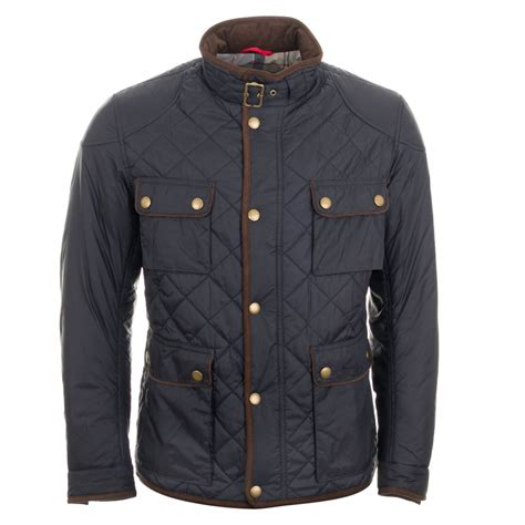 Quilted Coats And Jackets by Barbour Chukka Quilted Jacket Navy Free Shipping
