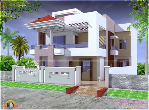 modern house designs in india nice modern house with floor plan kerala home design and floor plans