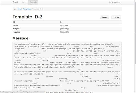 templates bootstrap yii yii email module