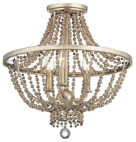 kichler 3 light standard bulb semi flush mount sterling