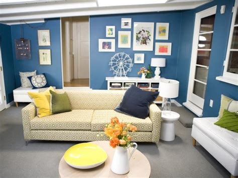 Wohnzimmer Ideen Wand 4673 by Blue Living Room With Retro Sofa Hgtv
