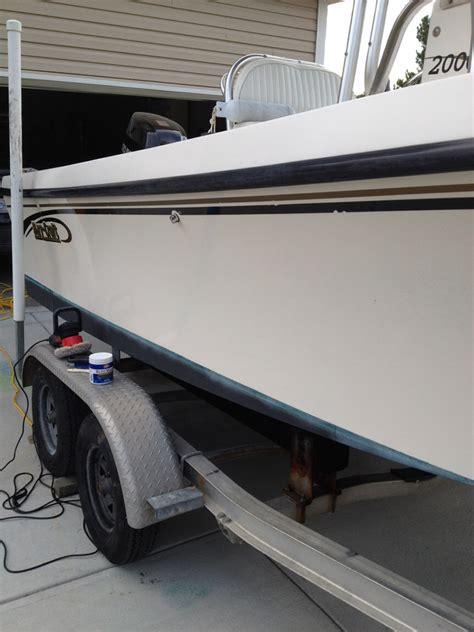 boat hull gelcoat restoring boat gelcoat shine the hull truth boating