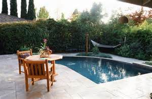 Small Backyard With Pool Landscaping Ideas Inground Pool Patio Ideas Small Yard Pool Landscaping Swimming Pool Designs Small Pool Ideas
