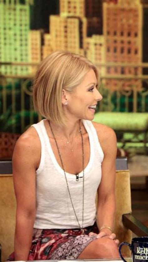 how do i style my hair like kelly ripa seriously i m no kelly ripa but i cut my hair similar