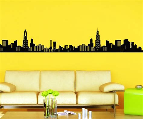 cityscape wall stickers stickonmania vinyl wall decals large cityscape sticker