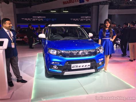 car paint price india maruti vitara brezza revealed auto expo 2016 live