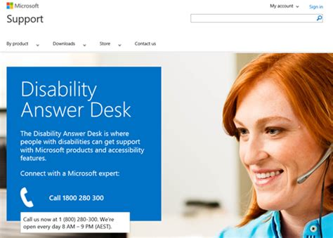Get Support From Microsoft For Accessibility Questions Via