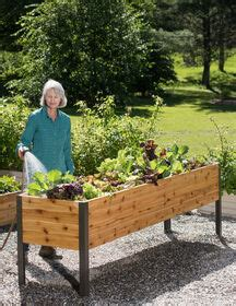 elevated planters elevated garden beds  boxes