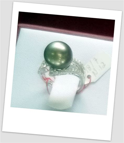 Cincin Handmade - handmade gold ring with south sea pearl ctr 115 harga