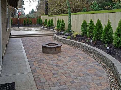 Pavers In Backyard by Southeast Olympia Backyard Entertainment Area Kennel